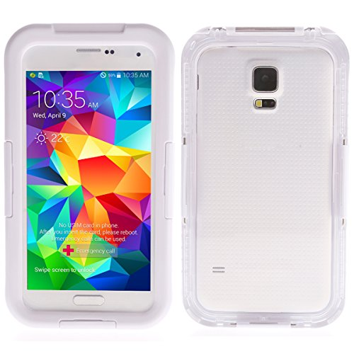 Foxnovo Durable Waterproof Shockproof Dirt-proof Case Cover Shell for Samsung Galaxy S5 /I9600 (White)