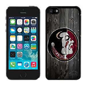 Fashionable And Unique Designed With NCAA Atlantic Coast Conference ACC Footballl Florida State Seminoles 12 Protective Cell Phone Hardshell Cover Case For iPhone 5C Phone Case Black