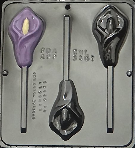 Calla Lily Lollipop Chocolate Candy Mold 3401 ()