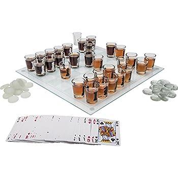 Maxam SPCHESS2 3-in-1 Shot Glass Chess Set