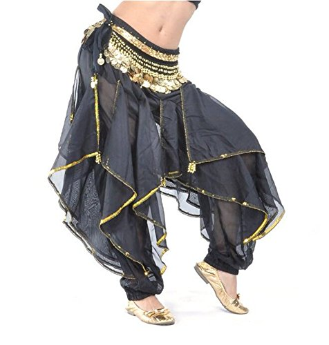 Arabic Dance Costume For Kids (ZYZF Belly Dance Harem Pants Tribal Baggy Arabic Halloween Pants)