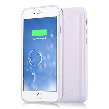 Funda Batería iphone 6, Muze Funda Protectora Cargador con Batería 5000mAh Carcasa Protectora Recargable para iPhone 6 6S[4.7 Pulgadas](Blanco)