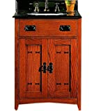 Fairmont Designs 117-V24 American Themes Collection 24-Inch Vanity (Red Burnished Oak)