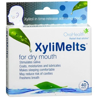 XyliMelts Discs for Dry Mouth 40 Mints (3 pack) (Best Fuel Saver Product)