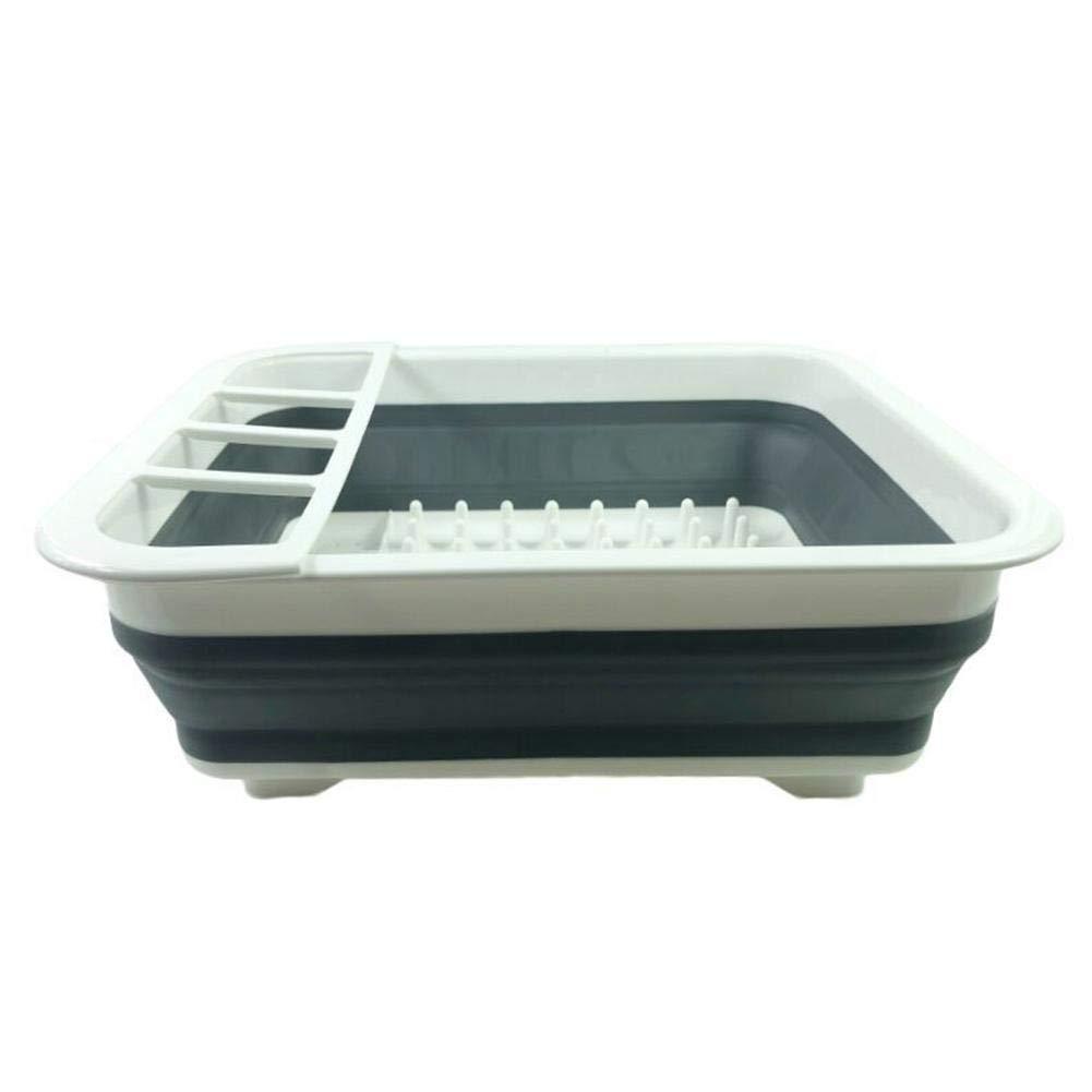 Pangyan990 Caja de Almacenamiento Plegable de los Cubiertos del Estante del Plato del desag/üe de la Cocina Escurridor Plegable del Soporte de los Cubiertos Soporte de Vaso
