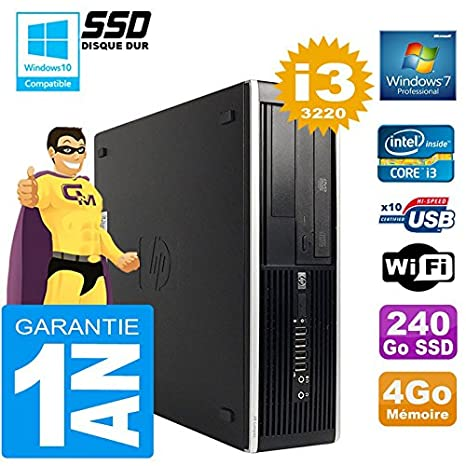 HP PC Compaq 8300 SFF Core I3-3220 RAM 4 GB Disco Duro 240 GB SSD ...