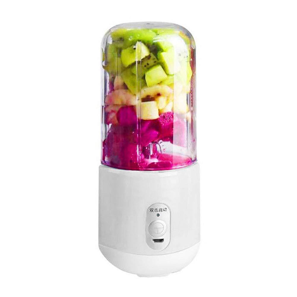 Exprimidor el/éctrico USB port/átil de 260 ml con 4 hojas y exprimidor de frutas azul