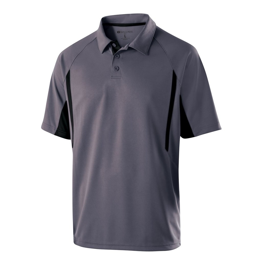 Holloway Dry Excel Avenger Polo (X-Large, Graphite/Black) by Holloway