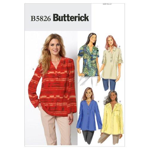 Butterick Patterns B5826 Misses'/Women'd Top, Size RR (18W-20W-22W-24W)