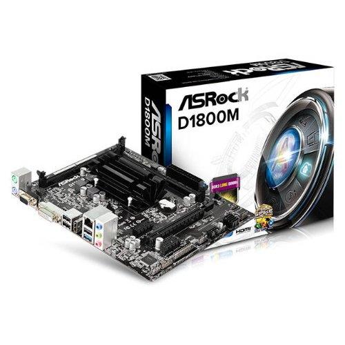 ASRock D1800M Intel J1800 2.41GHz/ DDR3/ USB3.0/ A&V&GbE/ MicroATX Motherboard & CPU Combo