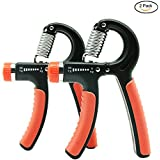 ADMA Hand Exerciser Grip,Hand Grip Strengthener Workout, Strength Trainer,Easy Setting Adjustable Resistance Range 5-60KG(11-132Lbs),Non-Slip Gripper,Great for Hand Strengthener(Orange)