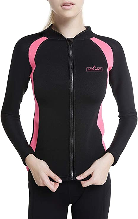 Acelane - Camisa de Neopreno para Mujer, para pérdida de Peso, para Entrenamiento, Sauna, Adelgazamiento, Manga Larga, para Yoga, Gimnasio, Correr (M): Amazon.es: Deportes y aire libre