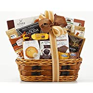 Wine Country Gift Basket Bon Appetit Gourmet Food Gift Basket Perfect Gift Chocolate Ghirardelli Godiva Brownie Brittle Snack Mix Cookies Snack Filled Woven Reusable Basket For Him or Her