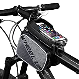 PlasMaller Bike Frame Bag Bicycle Top Tube Bag Cell Phone Bag Waterproof Sensitive Touch Screen