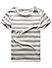 Mens Stripes T-Shirts Casual Slim Fit Tshirts Striped Tees Top