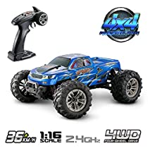 Hosim 1:16 Scale 4WD 36km/h High Speed RC Truck 9130 Remote Control RC Car 2.4Ghz Radio Controlled Off-Road RC Monster Truck RTR Hobby Car Buggy for KidsAdults