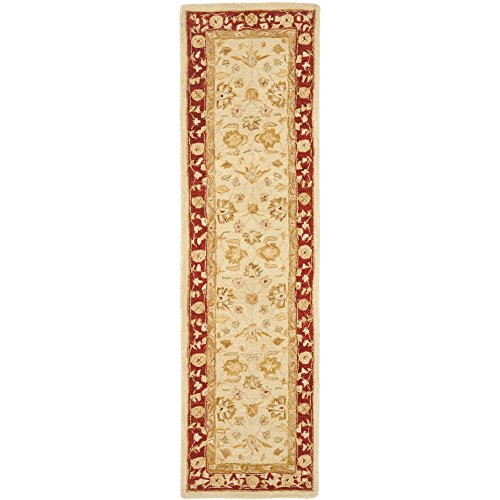 Safavieh Anatolia Collection AN522C Handmade Traditional Oriental Ivory and Red Wool Runner (2'3'' x 16') by Safavieh (Image #1)