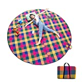 ZLX Picnic Blanket Waterproof Backing, Outdoor Moisture-Proof 5mm Picnic Mat/Thickening Large Portable Waterproof Spring Tour Mat Children's Lawn Picnic Mat