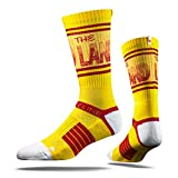 NBA Cleveland Cavaliers Adult The Land Strapped Fit 2.0 City Line Socks, One Size, Yellow