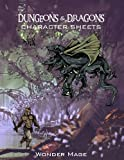 character sheets - Dungeon & Dragon Character Sheets: 8.5 x 11 Inc 100 Pages Character Sheets for D&D Board Game