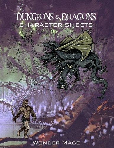 character sheets - 3