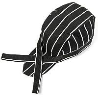 SUPVOX Chef Hat Cap Catering Skull Cap Ribbon