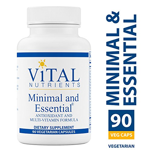 Vital Nutrients - Minimal & Essential - One a Day Multi-Vitamin/Mineral and Antioxidant Formula - 90 Capsules - Antioxidant Formula Vitamin
