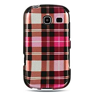 Dream Wireless CASAMR380HPCK Slim and Stylish Design Case for the Samsung Freeform 3/R380 - Retail Packaging - Hot Pink Checker