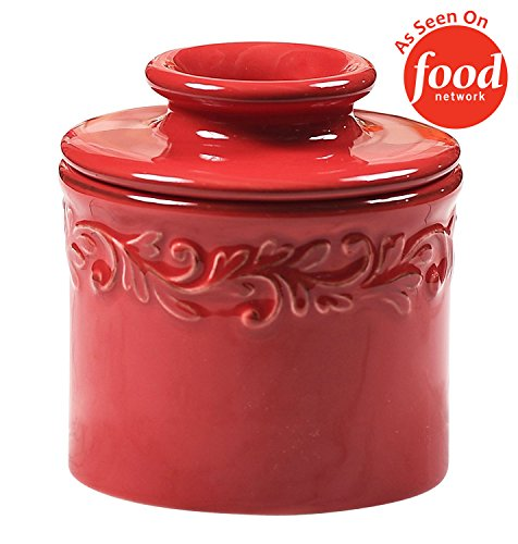 - The Original Butter Bell Crock by L. Tremain, Antique Collection - Rouge Red