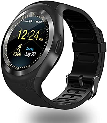 ZOMTOP Y1 Bluetooth SmartWatch - HD IPS Round Touch Screen Cell Phone Watch with SIM TF Card Slot SmartWatch Pedometer Sleep Monitor Remote for ...