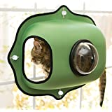 "K&H Pet Products EZ Mount Window Bubble Pod Green 27"" x 20"" Kitty Sill"