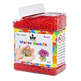 AINOLWAY High Elastic Water Beads Gel Pearls Jelly Crystal Soil for Kids Sensory toys or Vase Fillers 4oz Almost 15,000 Pcs (RED)