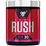 BSN Endorush Pre Workout Powder, Watermelon Flavor Energy Supplement for Men and Women, 300mg of Caffeine, with Beta-Alanine and Creatine, 30 Servings
