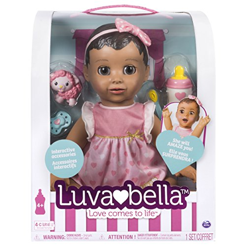 LUVABELLA - Brunette Hair - Responsive Baby Doll with Realistic Expressions and Movement JungleDealsBlog.com