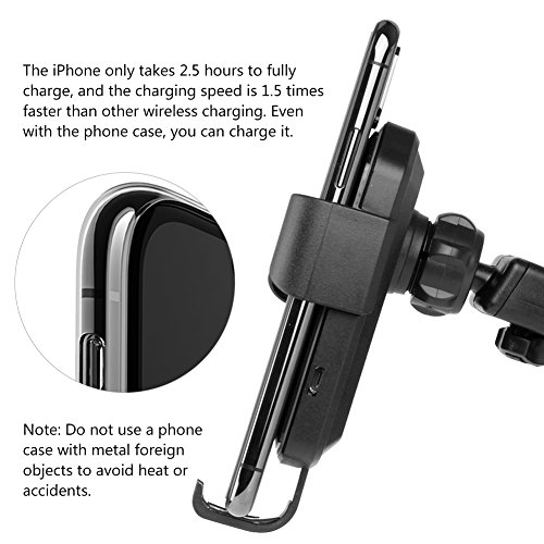 Wireless Car Charger, TUREAL Windshield Car Phone Mount Holder, Qi 10W Wireless Charging Strong Sticky Gel Pad Compatible iPhone X, 8/8 Plus, Samsung Galaxy S8/S8 Plus/S7/S7 edge/S6 edge Plus/Note 8/5 by TUREAL (Image #4)