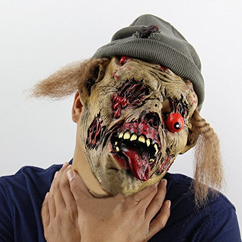 Miniature Dollhouse Kit Christmas Room - 2019 Halloween Zombie Tomb Keeper Scary Mask Latex Full Face Nausea Horror Evil Spirits Masks Ghost - Mask Blue Scary Spirit Latex