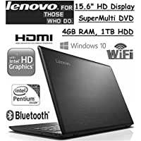 Flagship Model Lenovo 15.6 Premium High Performance Laptop, Intel Pentium N3710, 4GB RAM, 1TB HDD. Webcam, Bluetooth, SuperMulti DVD, Windows 10