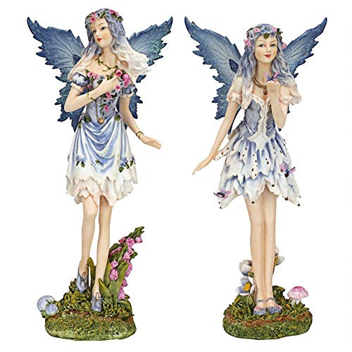 Design Toscano Poppy and Meadow The Windforest Fairies Statue Collection, Full Color