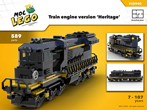 Train engine Heritage (Instruction Only): MOC LEGO