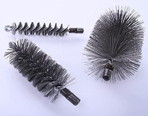 40x60mm Ofenrohrb/ürste Drahtb/ürste Kaminb/ürste Heizkesselb/ürste Schornsteinb/ürste Kaminofenb/ürste Kaminbesen Rohrb/ürste eckig aus formstabilem Stahldraht Kaminkehrerqualit/ät