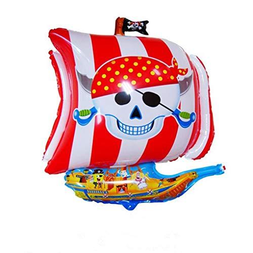 Halloween Pirate Ship Foil Balloons Children Birthday Cartoon Helium Balloons Inflatable -