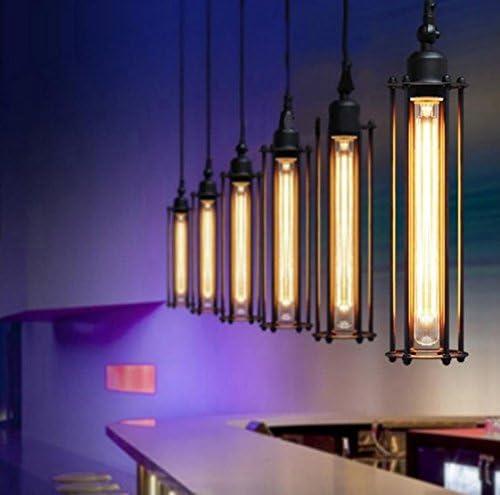 50W Equivalent E26 Base 110-120VAC Bulbright Vintage Tubular LED Filament Bulb Dimmable T30 5W LED Light Bulb Dimmable Clear Warm White 2700K
