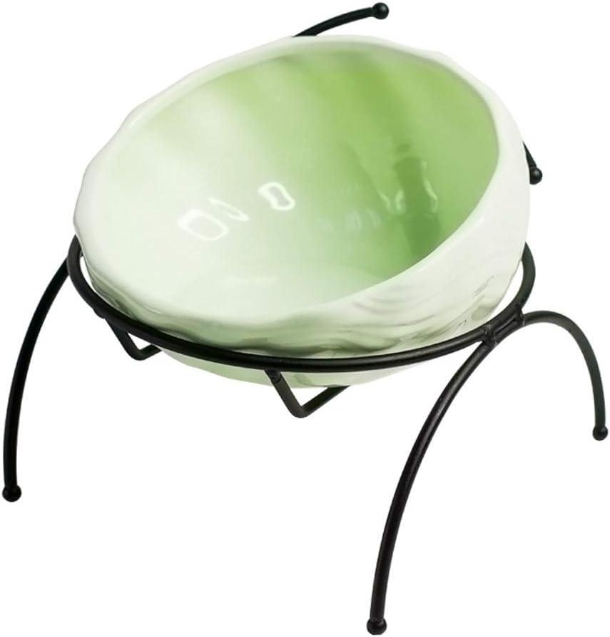LSX--Pet Bowl Cat Bowl, Oblique Ceramic Protection Cervical Vertebra Cat Food Bowl Garfield Special Flat Face Bowl Cat Supplies Dog Stuff