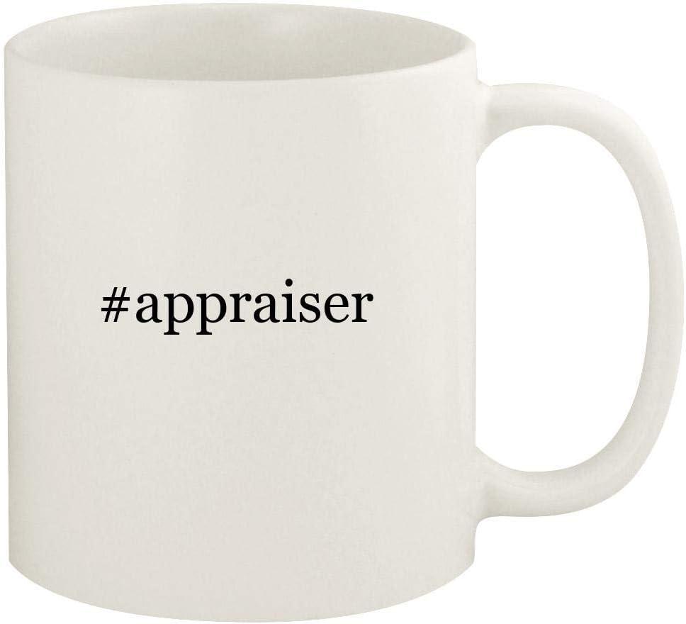 #appraiser - 11oz Hashtag Ceramic White Coffee Mug Cup, White