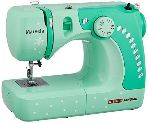 usha janome marvela 60 watt sewing machine white green decals