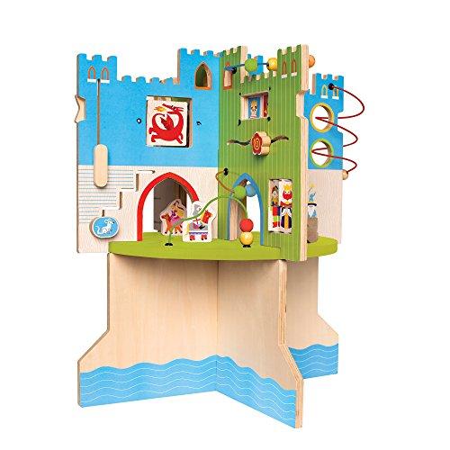 51EnAx9w1lL - Manhattan Toy Storybook Castle Wooden Toddler Activity Center