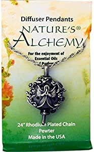 Nature's Alchemy, Diffuser Pendants, Angel Necklace