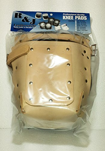 R&J Leathercraft 309X-1L,Leather Knee Pads w/Double Felt Inner Lining, 1'' Leather Strap, Plus Leather Protection, Made in USA*****