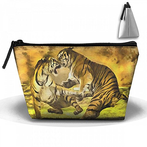 Tiger Catch Wrestling Cosmetic Bags Portable Travel Toiletry Pouch Makeup Organizer Bag With Zipper by Raglan Carnegie