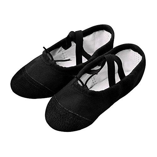 - Ballet Slippers Canvas Dance Shoes Gymnastics Yoga Flats(Toddler/Little/Big Kid)